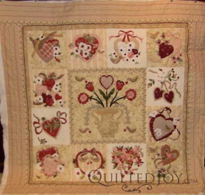 bettyes vintage valentine block of the month quilt Unique Vintage Valentine Quilt Gallery