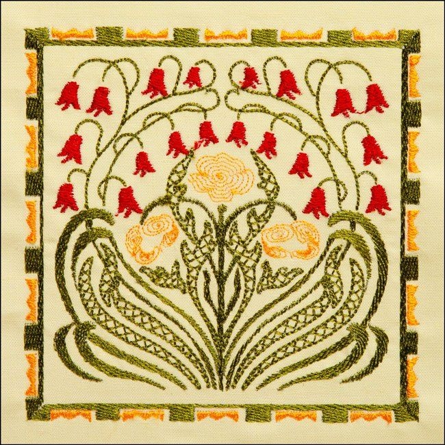 bfc1727 elegant art nouveau quilt blocks quilting crazy Stylish Art Nouveau Quilt Patterns