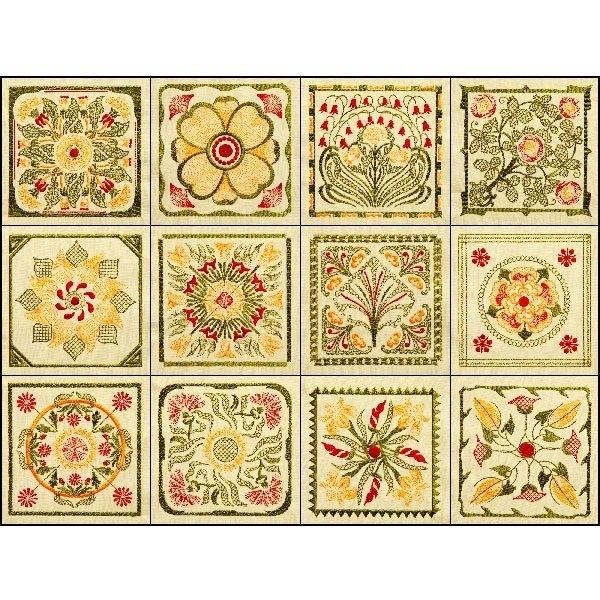 bfc1727 elegant art nouveau quilt blocks Stylish Art Nouveau Quilt Patterns