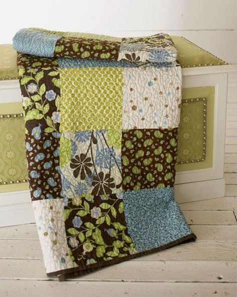 big block style quilt free quilt tutorial sewing big Elegant Free Big Block Quilt Patterns For Beginners Inspirations