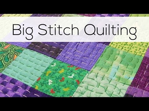 big stitch quilting youtube Cozy Easy Hand Quilting Patterns