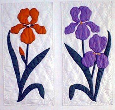 bird and flower applique patterns blue birds 26 x 44 Modern Floral Applique Quilt Patterns Gallery