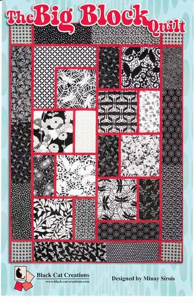 black cat creations the big block quilt pattern Elegant Free Big Block Quilt Patterns For Beginners Inspirations