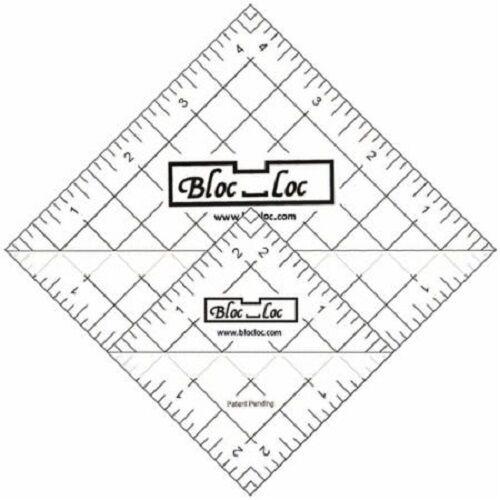 bloc loc s6 quilting ruler set of 2 2 12 4 12 inch half square triangle Triangle Template For Quilting