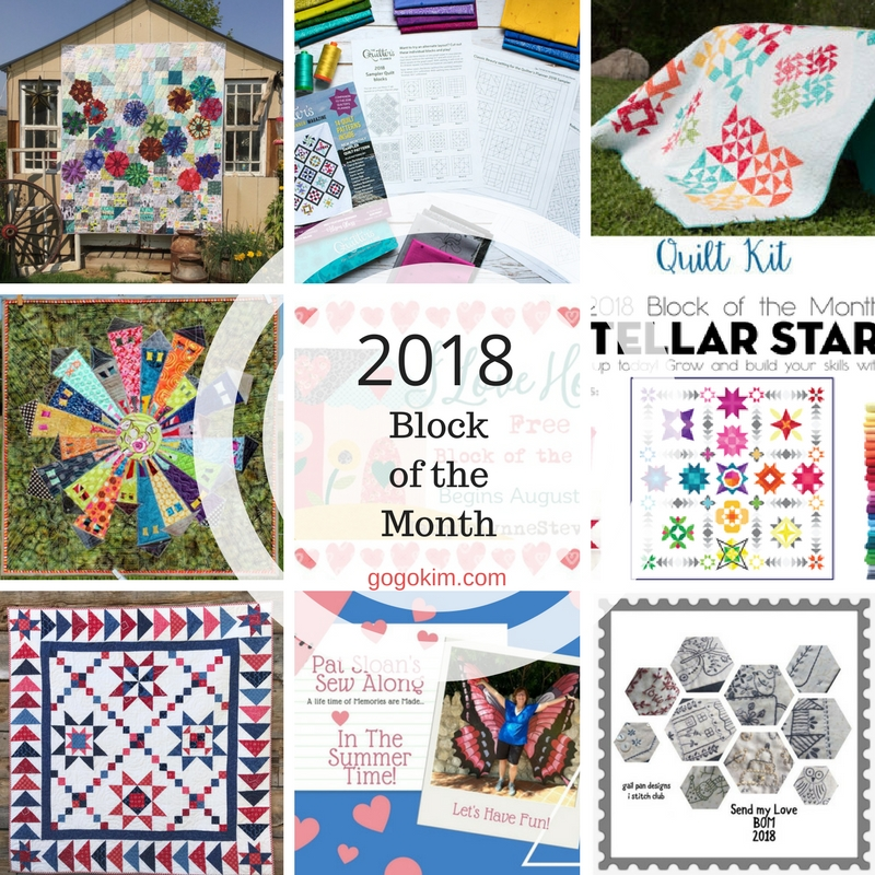 block of the month sew alongs for 2018 go go kim Cool Quilt Of The Month Patterns Inspirations