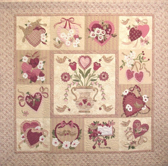 block of the month vintage valentine Unique Vintage Valentine Quilt Gallery