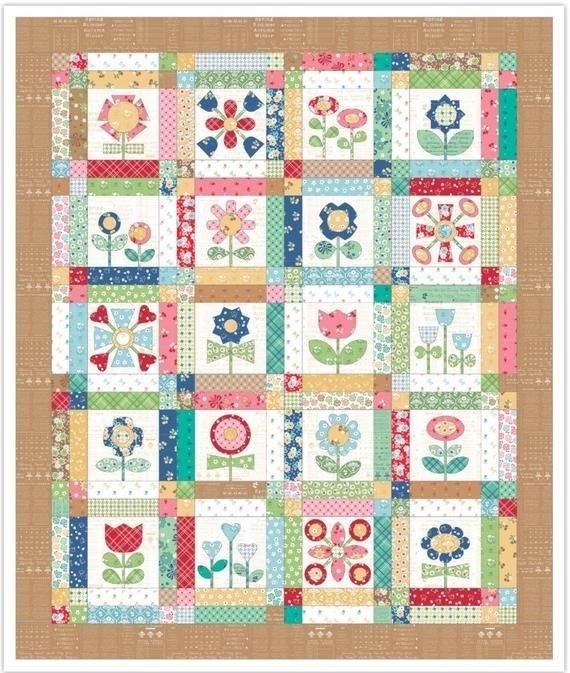 bloom sew simple shapes applique templates sewing Modern Simple Applique Quilt Patterns Inspirations