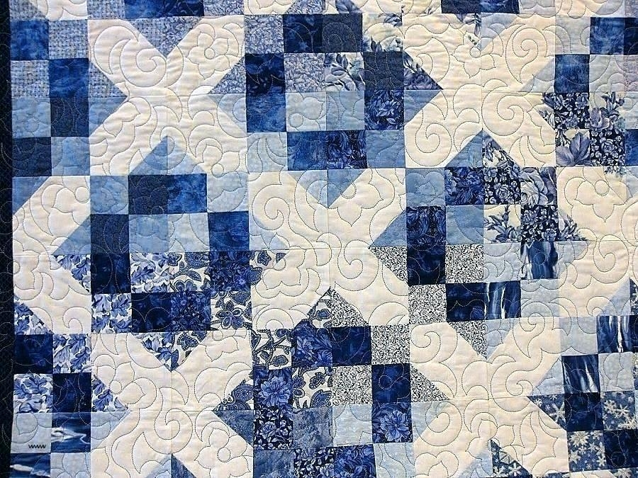 blue and white quilt patterns superiorincco Unique Blue And White Quilt Patterns Gallery
