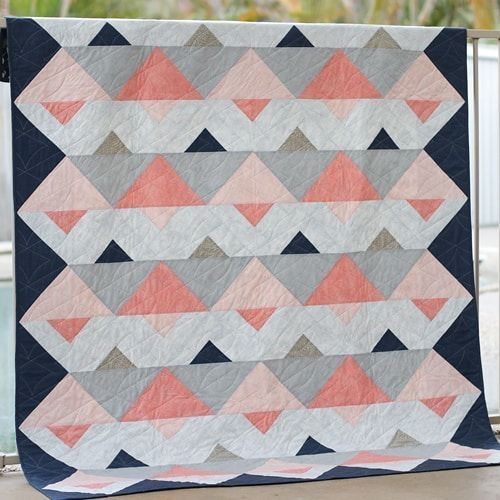 bonjour quilts sewing pattern triangle twist Modern Quilt Sewing Patterns Gallery