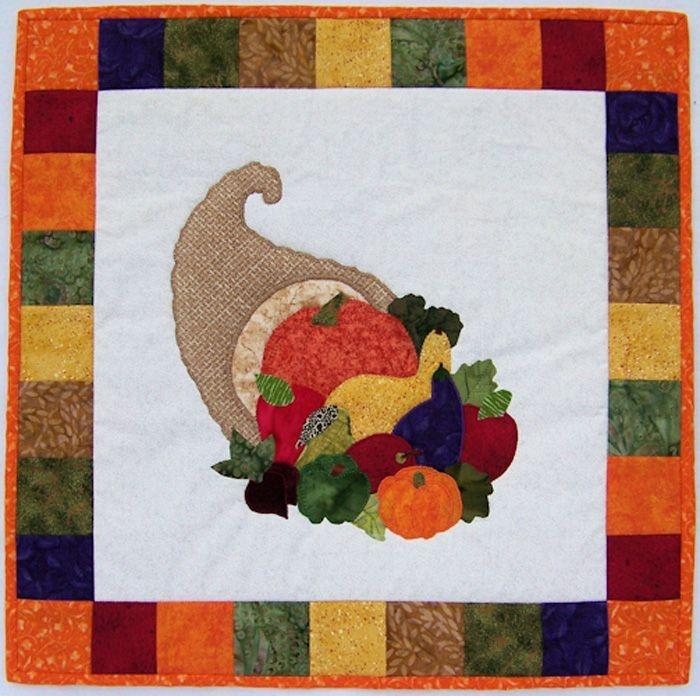 bountiful cornucopia quilt pattern nqd 030 holiday Stylish Thanksgiving Quilt Patterns