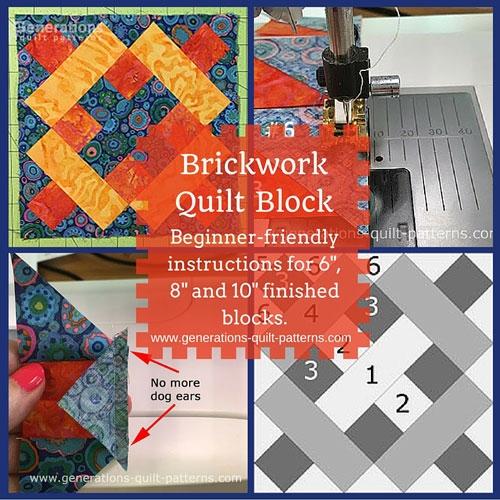 brickwork quilt block instructions 6 8 10 finished Unique Generation Quilt Patterns Inspirations