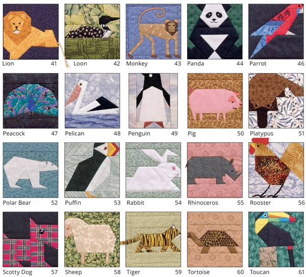 build an epic collection of quilt block patterns sale Modern Animal Patchwork Quilt Patterns Gallery