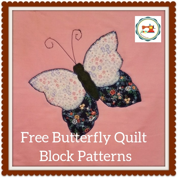 butterfly applique quilt pattern free downloadable file Stylish Applique Quilt Block Patterns