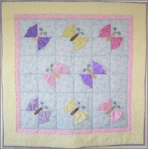 butterfly kisses girl ba quilt pattern ba girl quilts Interesting Butterfly Kisses Quilt Pattern