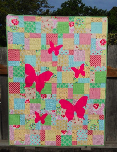 butterfly silhouette quilt tutorial sew mama sew Stylish Butterfly Patterns For Quilts Inspirations