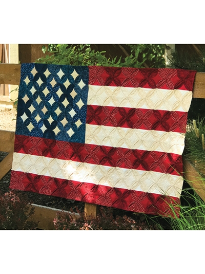 cathedral window flag quilt pattern Cozy American Flag Quilt Pattern