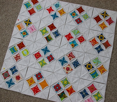 cathedral windows quilt progress during quiet time Stylish Cathedral Windows Quilt Pattern Inspirations