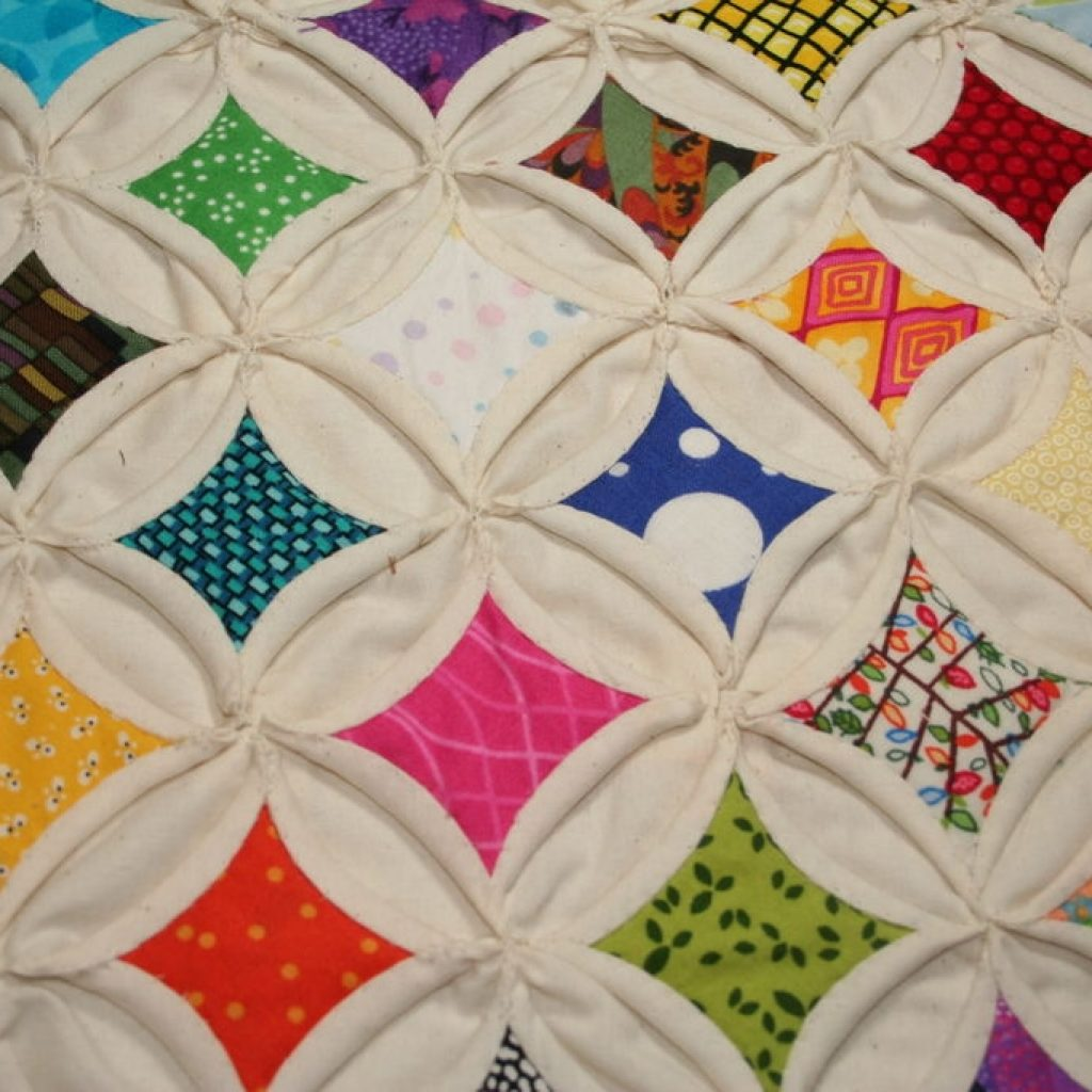 cathedral windows quilt squares 9 steps with pictures Stylish Cathedral Windows Quilt Pattern Inspirations