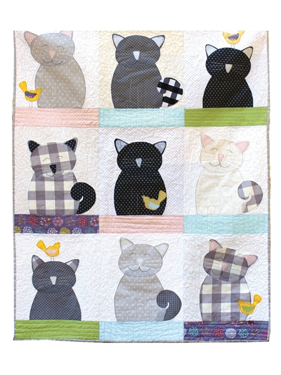 cats and canaries applique quilt pattern Modern Animal Patchwork Quilt Patterns Gallery
