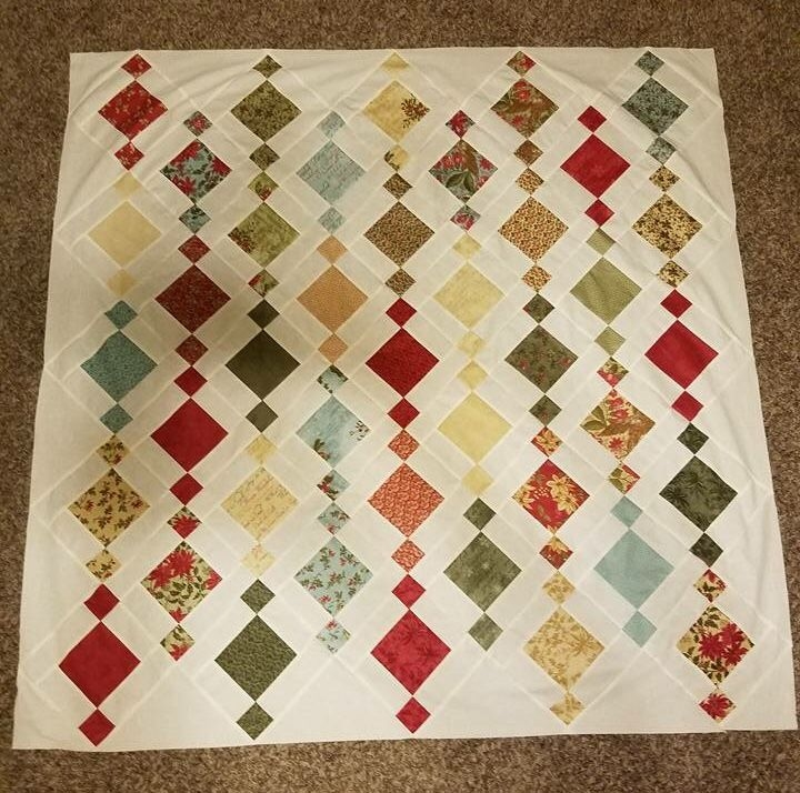 chandelier quilt made lisa gallup pattern from charm Stylish Charm Square Quilt Patterns Gallery