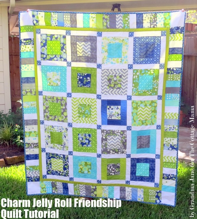 charm jelly roll friendship quilt tutorial simply color Interesting Jelly Roll And Charm Pack Quilt Patterns Inspirations