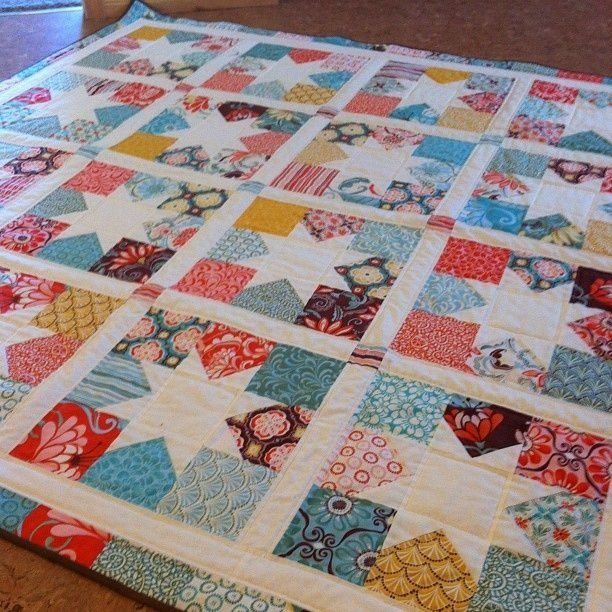 charm square stars love this quilt quilts charm square Stylish Charm Square Quilt Patterns Gallery