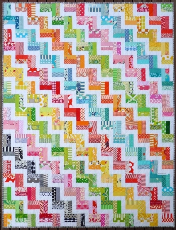 chevron quilt pattern no triangles stitched crystal chevron Stylish Zig Zag Quilt Tutorial No Triangles Gallery