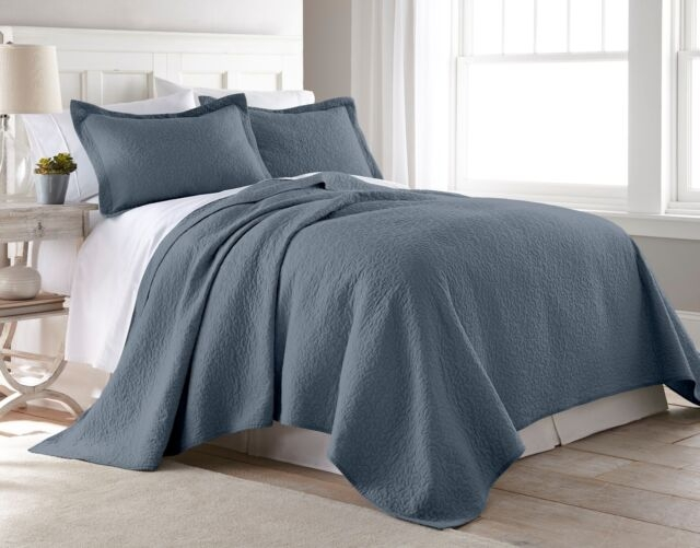 chezmoi collection 3 piece blue vintage washed 100 cotton jigsaw quilt set Stylish Threshold Vintage Washed Quilt Inspirations