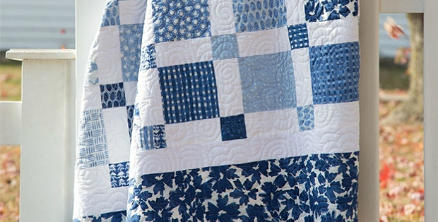 choose beautiful fabrics for an easy two color quilt Stylish 2 Color Quilt Patterns Inspirations