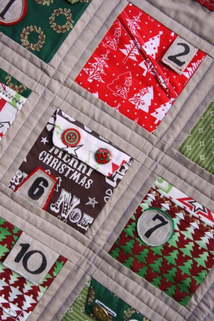 christmas advent calendar quilt free pattern download Modern Advent Calendar Quilt Pattern Gallery