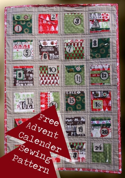 Permalink to Modern Advent Calendar Quilt Pattern Gallery