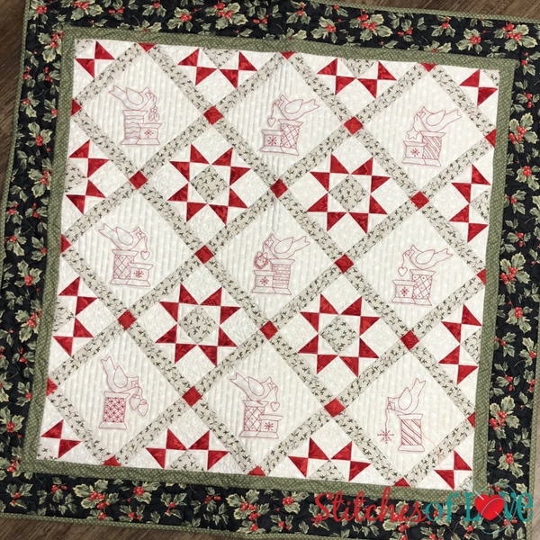 christmas cardinals pdf downloadable hand embroidery pattern Interesting Embroidery Quilt Patterns Gallery