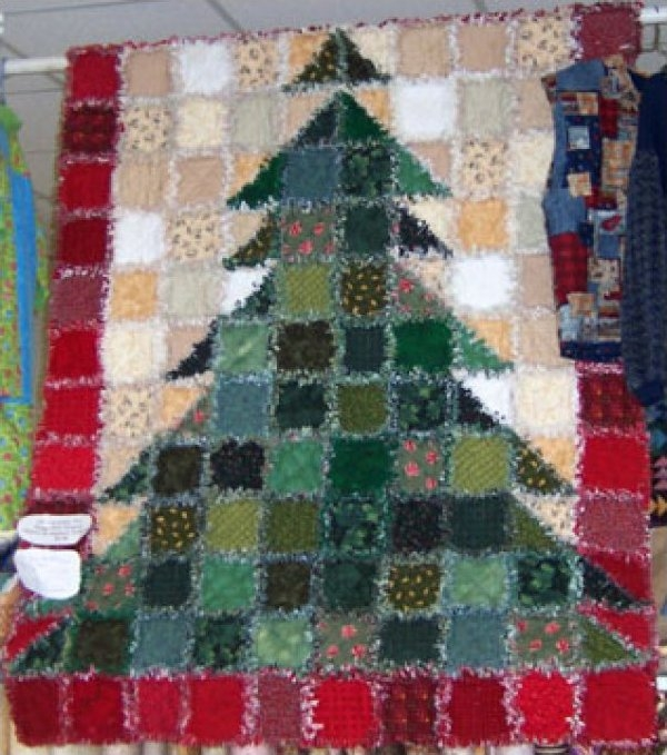 christmas tree rag quilt kit call for price Christmas Tree Rag Quilt Pattern Gallery