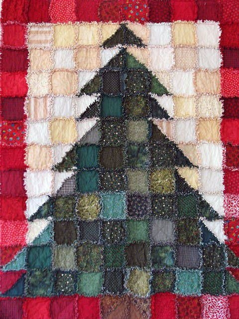 christmas tree rag quilt pattern crafts christmas tree Christmas Tree Rag Quilt Pattern Gallery