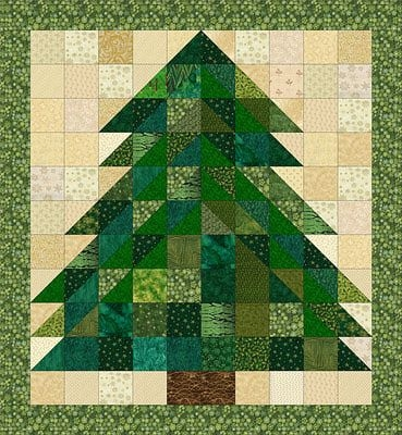 christmas tree rag quilt pattern sewing projects Christmas Tree Rag Quilt Pattern Gallery