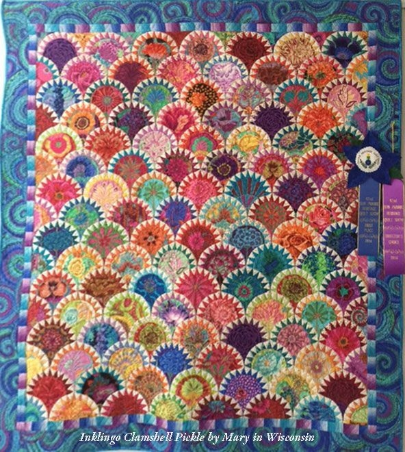 clamshell pickle quilt mary with inklingo quilts Cool Pickled Clamshell Quilt Pattern Inspirations