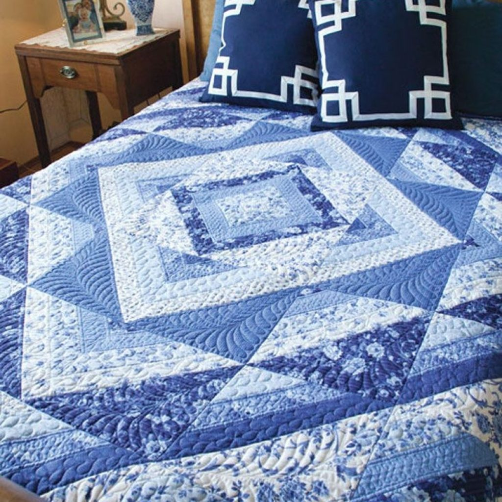clever use of a special striped fabric makes this queenking Stylish Easy King Size Quilt Patterns Gallery