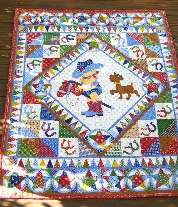 cowboy quilt ba boy quilt vintage ba quilt ba boy Interesting Vintage Cowboy Quilt Gallery