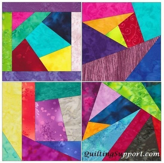 crazy block patch 10 inch paper piece foundation quilting pattern Cozy Foundation Quilt Patterns Inspirations
