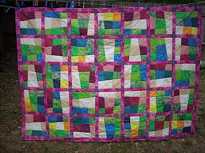 Permalink to Cozy Crazy Nine Patch Quilt Pattern