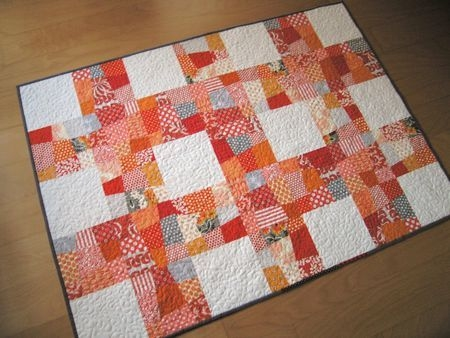 crazy nine patch quilt free sewing pattern and tutorial Cozy Crazy Nine Patch Quilt Pattern