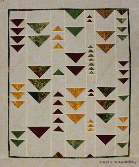 create a wind chime quilt and two other quilt patterns Cozy Easy Flying Geese Quilt Pattern
