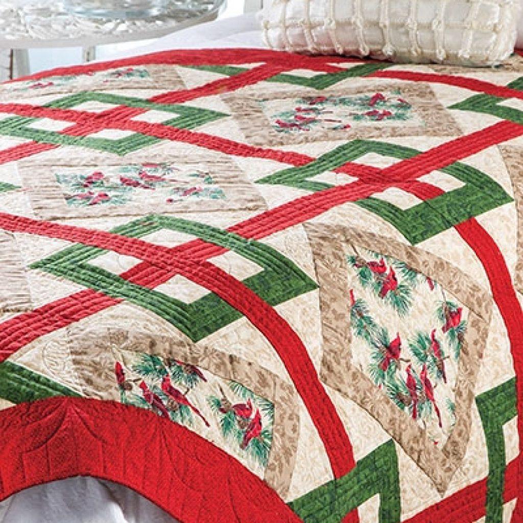 crisscross christmas quilt pattern Christmas Quilt Pattern