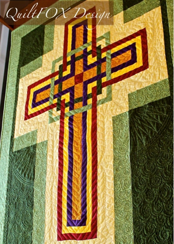 cross quilt pattern carpenters corner cross celtic cross wall hanging 42 x 56 pdf download Modern Celtic Cross Quilt Pattern Gallery