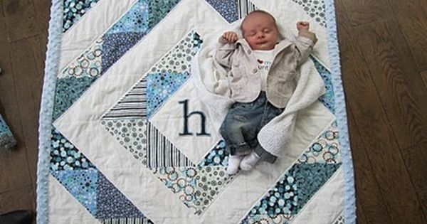 cute ba quilt i think i could do this one quilts Unique Patchwork Baby Quilt Patterns Inspirations