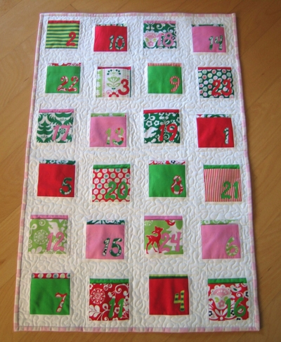 daily pocket advent calendar sew mama sew Modern Advent Calendar Quilt Pattern Gallery