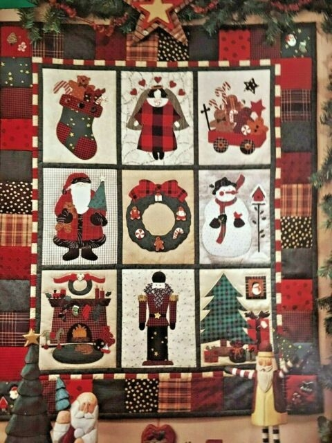 debbie mumm visions of christmas wall quilt pattern 31x37 uncut vintage 1994 Interesting Debbie Mumm Quilt Patterns Inspirations