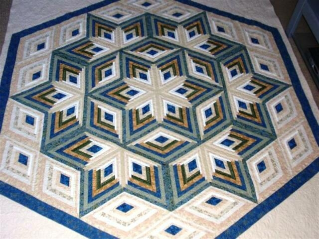 diamond log cabin star quilt pattern Modern Log Cabin Quilting Patterns Gallery