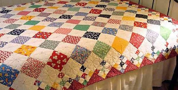 diamond patch quilt pattern comes in 3 sizes quilting digest Interesting Pattern For Patchwork Quilt
