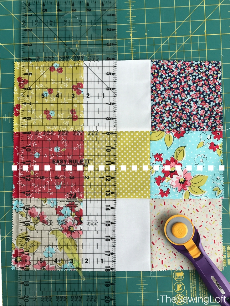 disappearing 9 patch quilt block the sewing loft Cool Disappearing Nine Patch Quilt Pattern